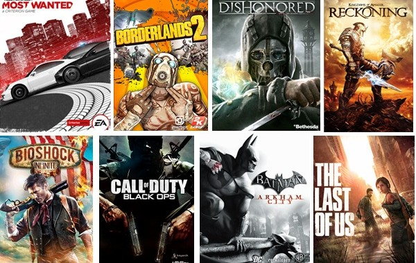 Top 8 Video games from 2010 to 2013