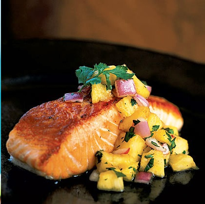 ... Banana Smoothie & Pan-Grilled Salmon with Pineapple Salsa - Cairo Hub