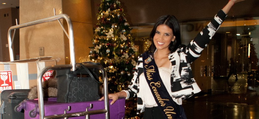 Francesca Cipriani, Miss Ecuador 2015, arrives at the Planet Hollywood Resort & Casino in Las Vegas on December 1st, 2015.  The 2015 Miss Universe contestants are touring, filming, rehearsing and preparing to compete for the DIC Crown in Las Vegas. Tune in to the FOX telecast at 7:00 PM ET live/PT tape-delayed on Sunday, Dec. 20, from Planet Hollywood Resort & Casino in Las Vegas to see who will become Miss Universe 2015. HO/The Miss Universe Organization